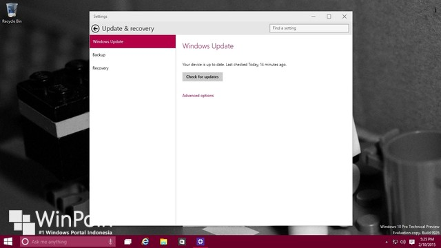 Microsoft Merilis Patch Update untuk Windows 10 Preview