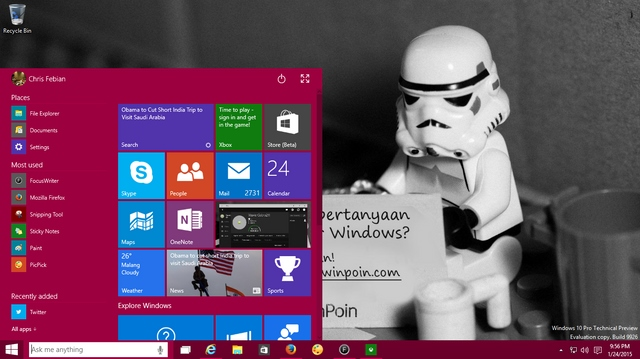 Start Menu, Cortana, dan Search Bakal Dirombak di Windows 10 Build Selanjutnya!