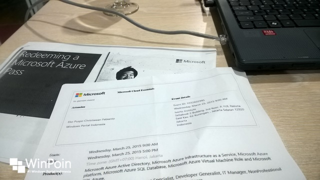 WinPoin di Microsoft CloudCamp & DevCamp Jakarta