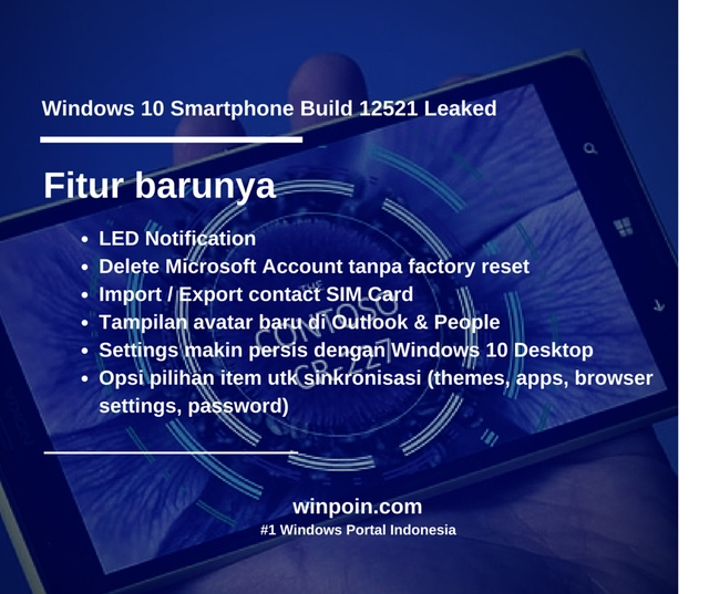 Inilah Tampilan Windows 10 Smartphone Build 12521 — Leaked