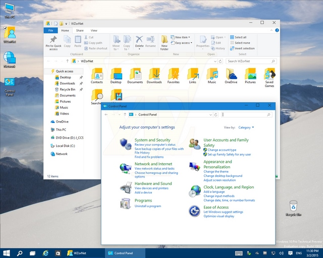Masih Ada Control Panel di Windows 10 Build 10022