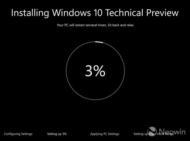 Seperti Inilah Tampilan Proses Instalasi Windows 10 Nantinya
