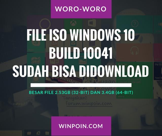 File ISO Windows 10 Build 10041 Sudah Dirilis — Download Disini