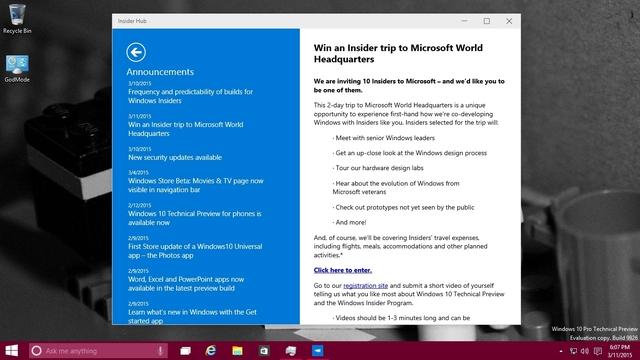 Cek Terus Insider Hub di Windows 10 — Siapa Tahu Kamu Diundang Microsoft ke Redmond, USA