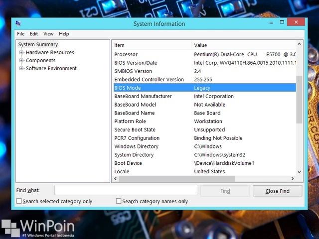 Cara Mengetahui Komputer Kamu Pake BIOS atau UEFI