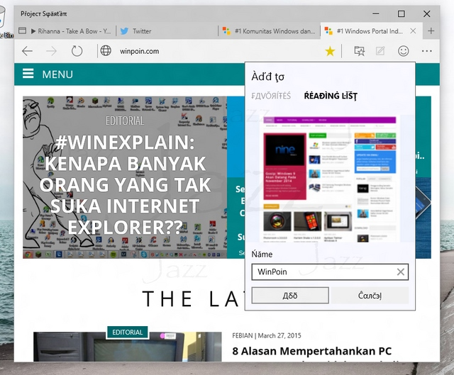 Hands-on Browser Terbaru Microsoft — Project Spartan