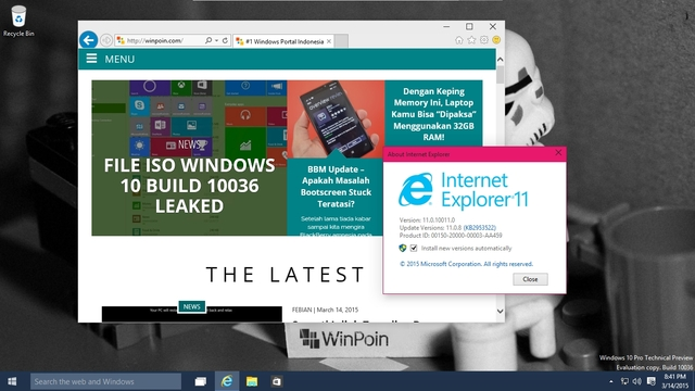 Review Eksklusif Windows 10 Build 10036 — Inilah Detail Fitur & Tampilannya