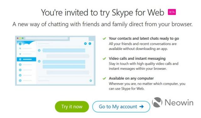 Sebentar Lagi Kamu Bisa Chat & Video Call Skype Melalui Browser — Kini Sudah Private Beta