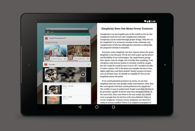 Android Bakal Dilengkapi Snap App Multi-Window Seperti Windows 8