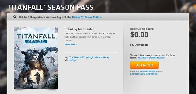 Titanfall Season Pass (Semua Map packs!) Kini Gratis