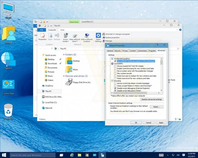 Inilah Tampilan Windows 10 Build 10022 dengan Icon yang Terkesan Jadul