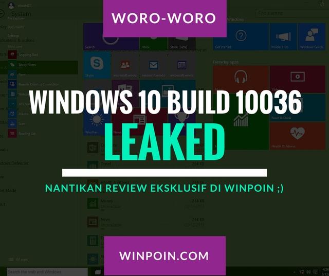 File ISO Windows 10 Build 10036 Leaked