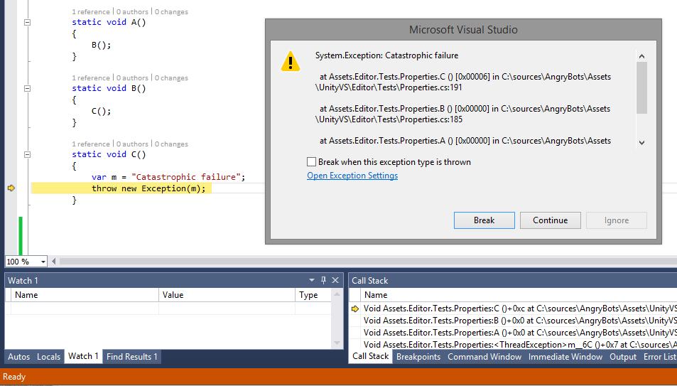 4744.VSTU2Preview2 - 3 - Exception Settings Window