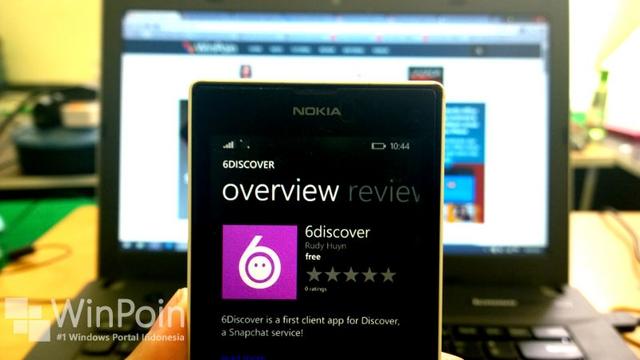 Snapchat Memaksa Rudy Huyn Menarik 6discover (dan Apps Lainnya) dari Windows Phone Store