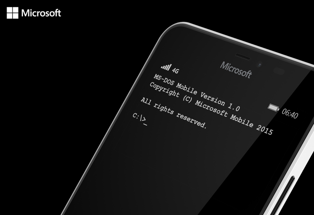 Microsoft Meluncurkan MS-DOS Mobile untuk Lumia