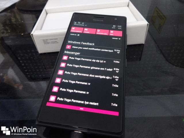 Fitur Baru Windows 10 Smartphone Preview: Action Center — Beserta Bugs Didalamnya