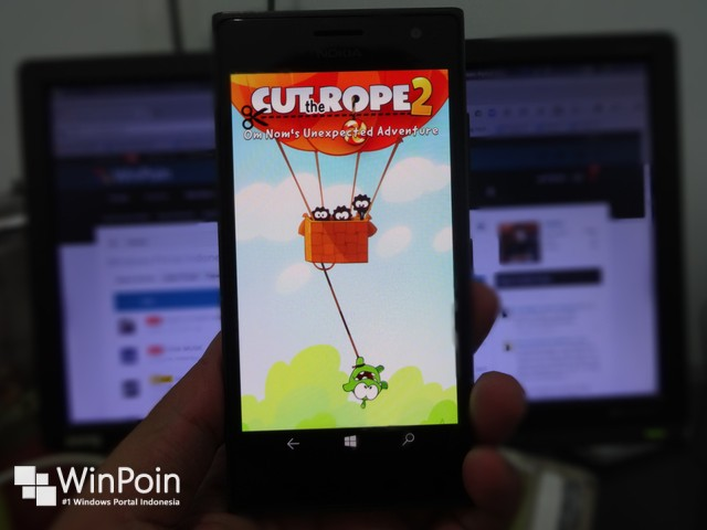 "Ayo Mainkan Game Seru ""Cut the Rope 2"" di Windows & Windows Phone!"