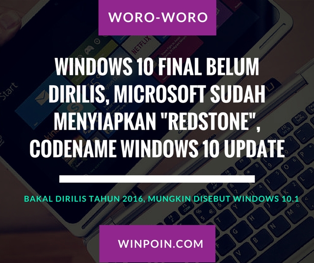 Redstone: Codename Untuk Windows 10 Update