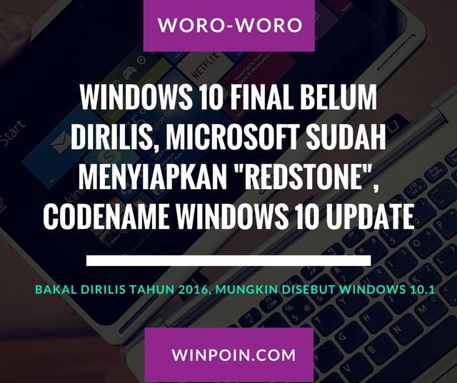 Redstone: Codename Untuk Windows 10 Update