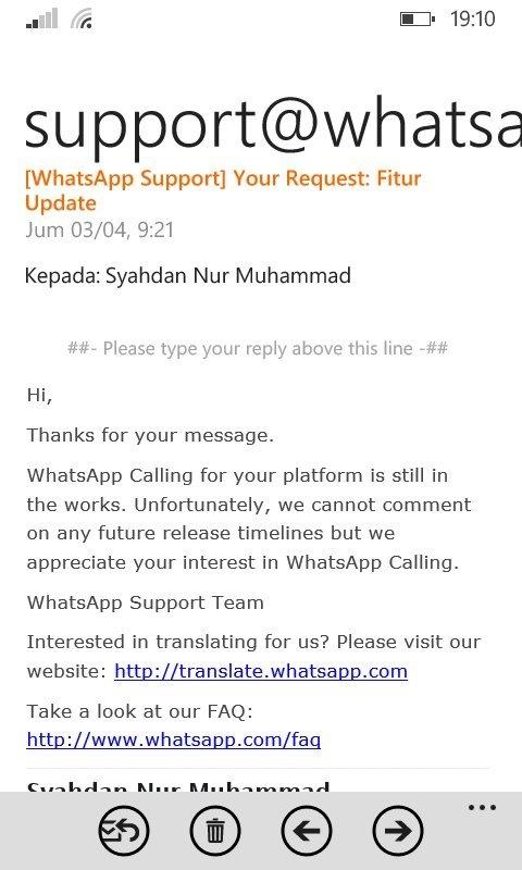 WhatsApp Mengkonfirmasi Bahwa WhatsApp Call untuk WP Sedang Dikerjakan