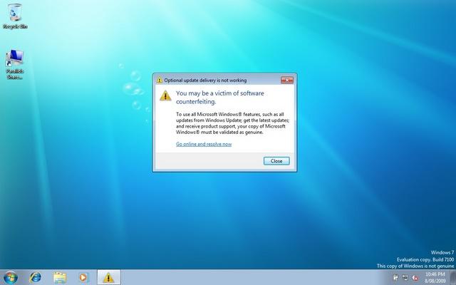 Apa Yang Terjadi Ketika Kamu Menggunakan Windows Bajakan??