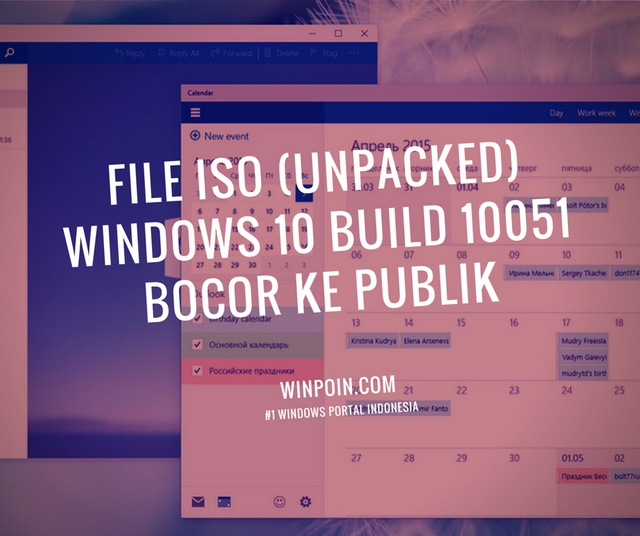 ISO Windows 10 Build 10051 Bocor ke Internet