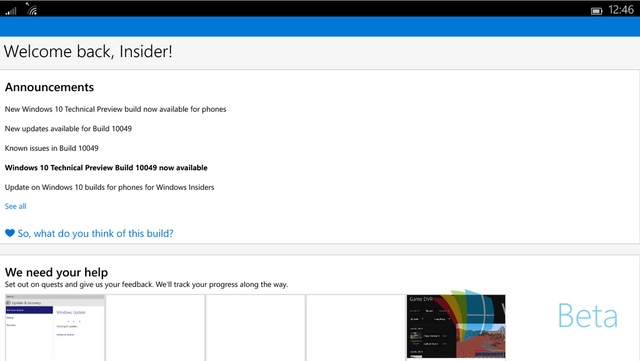 Seperti Inilah Tampilan Windows 10 di Tablet Mini — Mirip Windows 10 Smartphone
