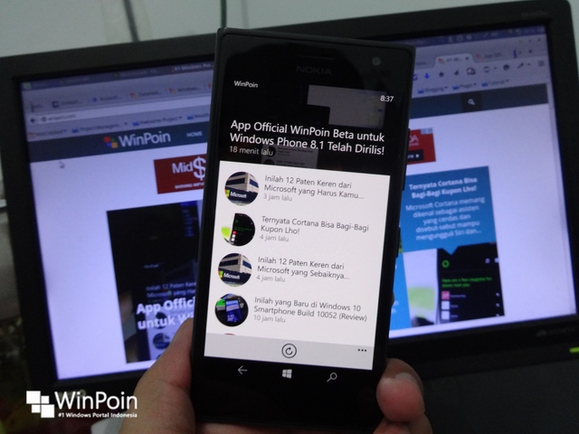 "Aplikasi WinPoin Menjadi Top ""New + Rising Apps""No 2 di Windows Phone Store"