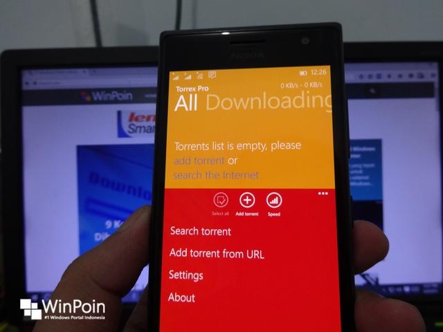 Aplikasi Torrent untuk Windows Phone — Torrex Pro Kini Gratis Terbatas!