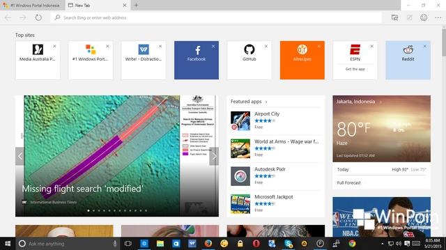 Inilah Beberapa Hal Baru yang Ada di Windows 10 Build 10122