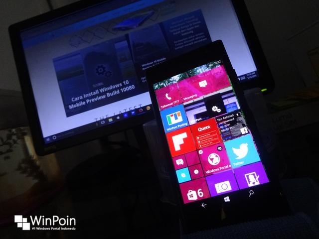 Screenshot Windows Mobile Build 10134 yang Belum Dirilis Telah Bocor