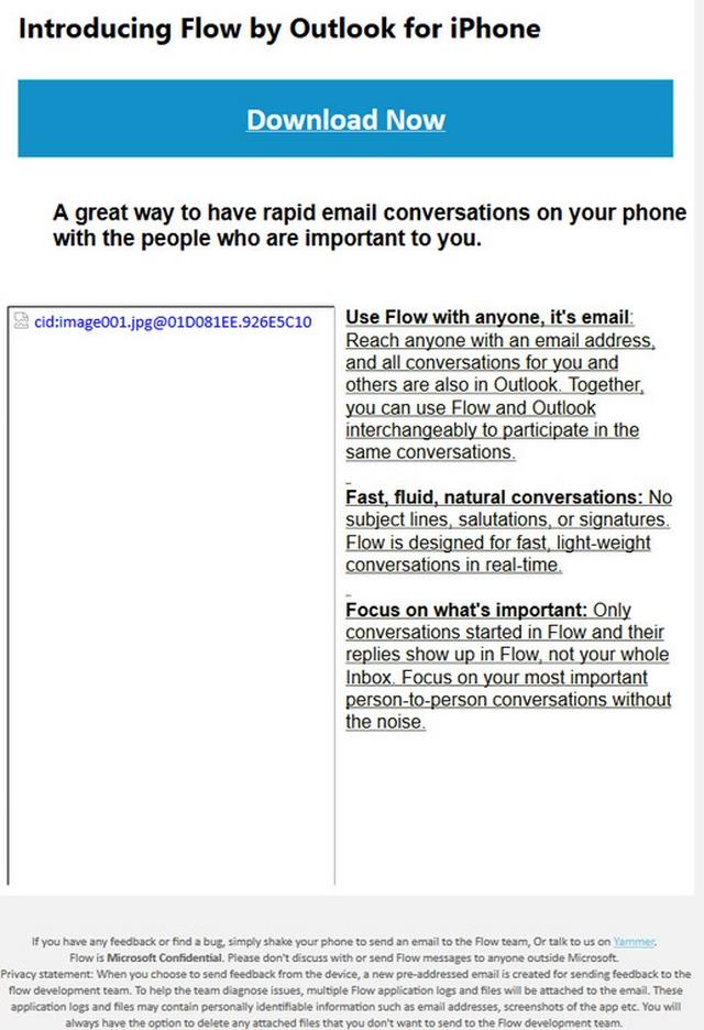 Diam-diam Microsoft Mengembangkan Flow, Aplikasi Mail Chat untuk iPhone