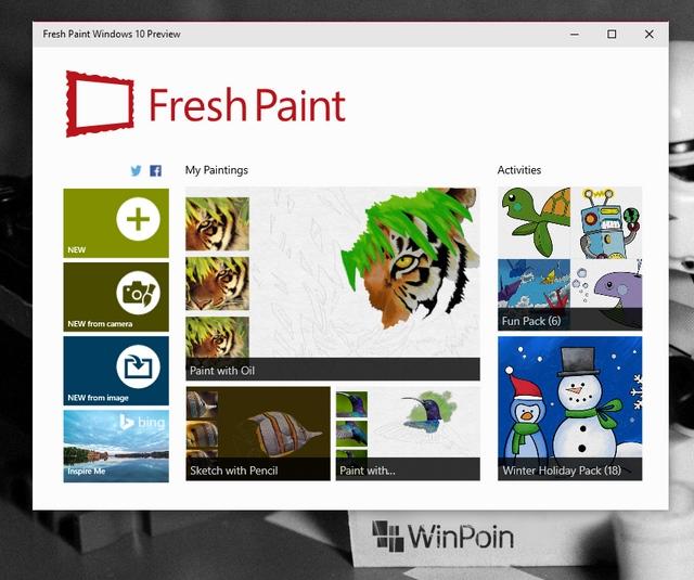 Fresh Paint Preview untuk Windows 10 Dirilis, Download Disini