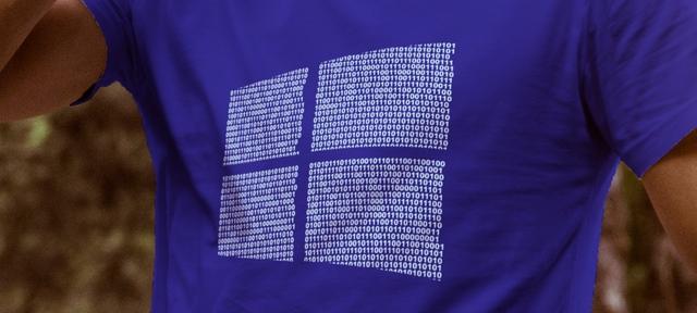 Pre-Order Kaos Biner Windows dengan Pesan Tersembunyi Didalamnya