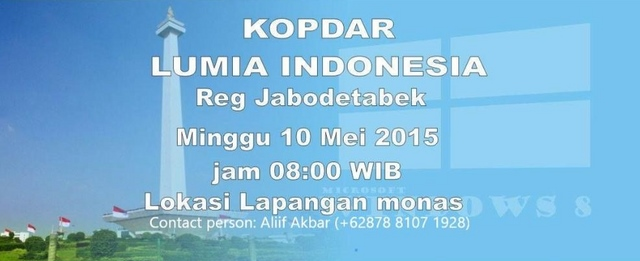 Ikuti Kopdar Lumia Indonesia Regional Jabodetabek Besok Jam 8 Pagi