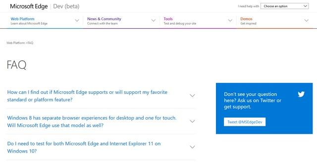 Website Microsoft Edge Dev Beta Telah Dirilis untuk Menggantikan Modern.IE