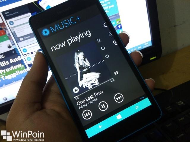 Aplikasi Musik dan Lirik di Windows Phone
