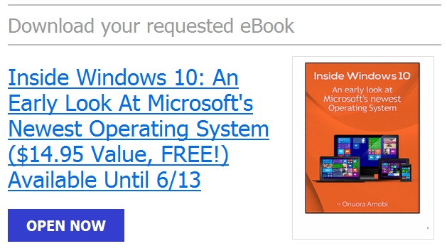 "Download Ebook ""Inside Windows 10: Mengenal Sistem Operasi Terbaru Buatan Microsoft"" Senilai 197 Ribu — Gratis!"