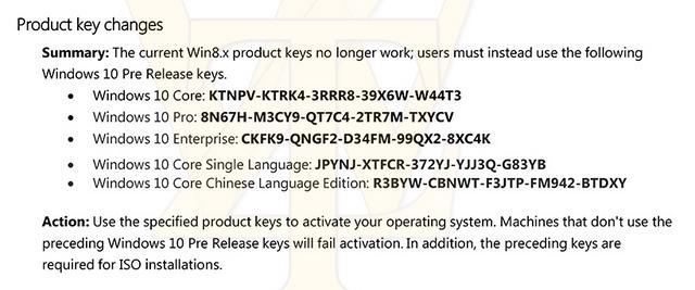 Product Key Windows 8.x Tidak Lagi Bisa Digunakan di Windows 10 Preview Build 10147, Ini Key yang Bisa