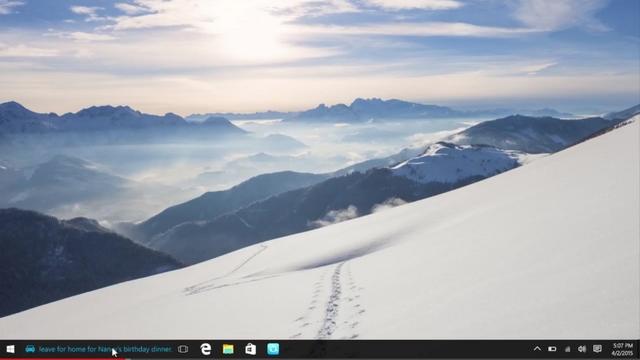 Cortana Akan Menampilkan Notifikasi (Berupa Teks Berjalan) di Taskbar