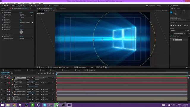 Orang Ini Membuat Wallpaper Windows 10 Hero Hanya dengan After Effect