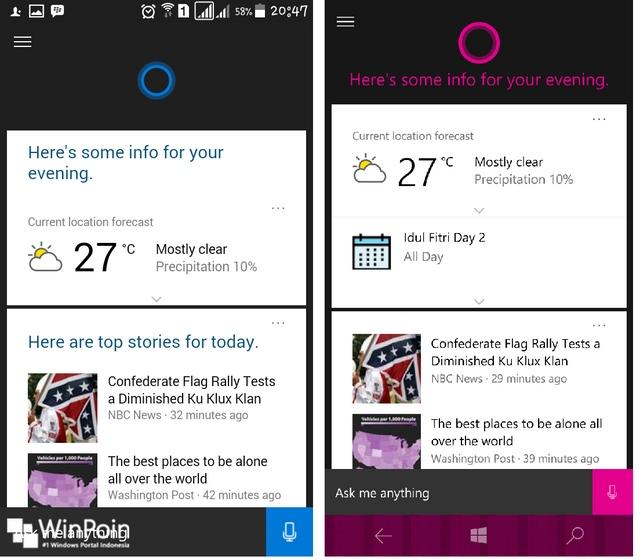 Cortana Android vs Cortana Windows 10 Mobile — Siapa Pemenangnya?