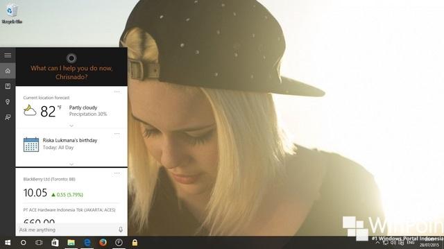 Cara Mengaktifkan Cortana di Windows 10 Desktop