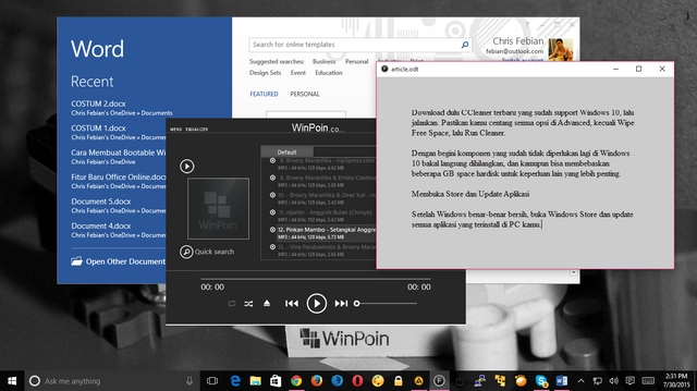 7 Hal yang Perlu Kamu Lakukan Setelah Upgrade ke Windows 10 Final