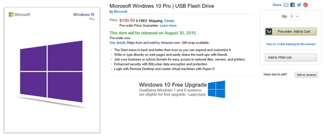 Pre-Order USB Flashdisk Windows 10 Sudah Mulai Dibuka