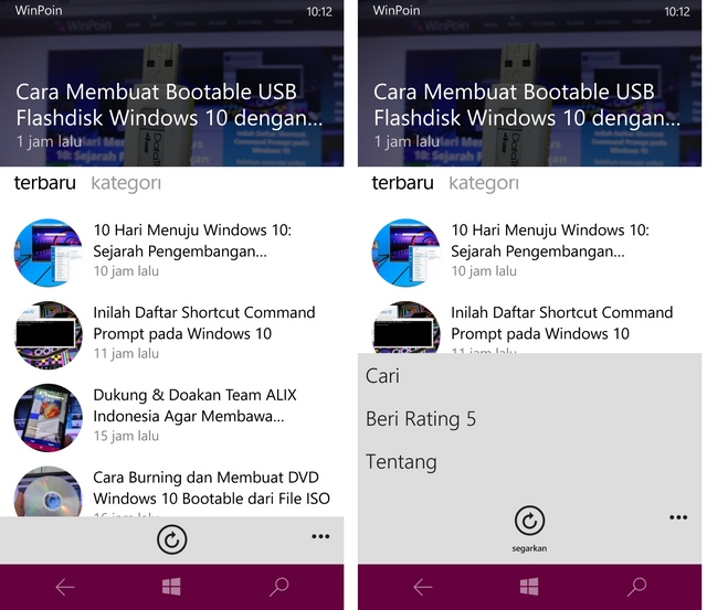 Yeah, Ada Update WinPoin Apps — Kini Support Pencarian Artikel