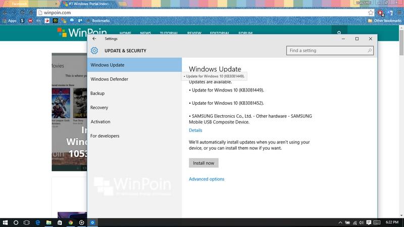Windows 10 build 10240 Mendapatkan 3 Patch Baru, Cek Windows Update Kamu!