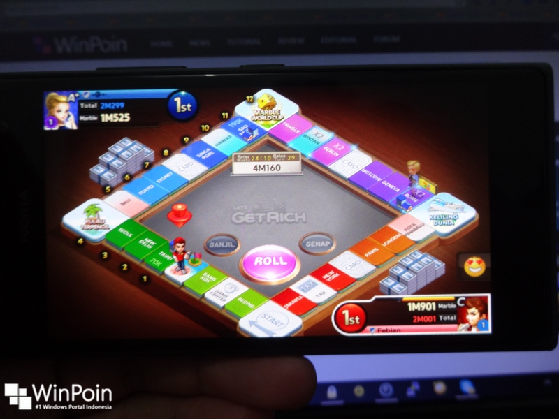 Wow..Game Line Get Rich Android Berjalan Lancar di Windows Phone..!!