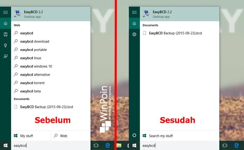 Cara Mematikan Bing Search di Start Menu Windows 10 — Tips #22