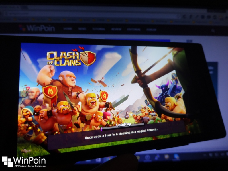 Seperti Inilah Jika Clash of Clans (CoC) Android Diinstall dan Dijalankan di Windows Phone (Review)